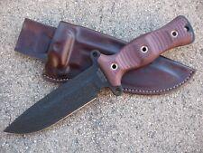 Busse Combat Team Gemini A2 TG M Knife Custom Molded Leather Sheath DARK BROWN