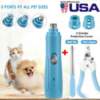 Electric Pet Nail Paws Trimmer Grinder Grooming Tools Clipper All Size Dog Cat