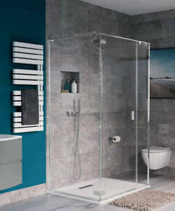 Crosswater Simpsons Svelte 3 Sided 900 x 900 Shower Cubicle Chrome Save Off RRP