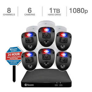 Brand New Swann Enforcer 8-Channel 6-Camera Indoor/Outdoor Security System