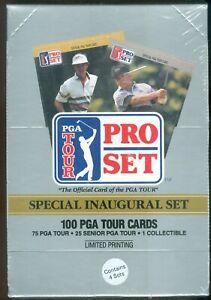 FACTORY SEALED Box of 4 100 Card SEALED 1990 Pro Set PGA Tour Sets 74 ROOKIES!