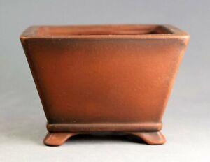 Tokoname Square Bonsai Pot by Bigei, #bigei53, 96*96*H64mm