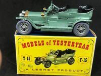 *HTF Matchbox Yesteryear Y15-1-2 (Grey Wheels) Rolls Royce Silver Ghost &D1 Box