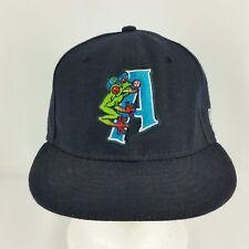 Everett Aquasox Minor League Baseball Hat New Era Dark Blue 6 7/8 USA made