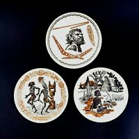 Australian Native Aboriginal Artwork 3 x Vintage Beer Drink Collectable Coasters