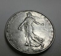 France 5 Francs, 1962, .835 Silver sowing wheat