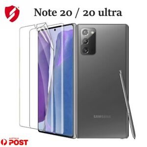 For Samsung Galaxy Note 20 Ultra Self-healing Screen Protector Aqua Crystal 2PCs