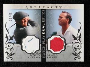 2021 Artifacts Match Play Dual Relics 36/49 Jack Nicklaus Arnold Palmer #MP-NP