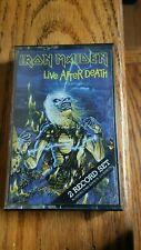Iron Maiden Live After Death 1985 Cassette Tape VG+