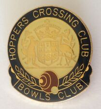 Hoppers Crossing Bowling Club Badge Pin Australian Coat Of Arms (L14)