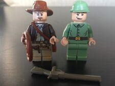 Lego Indiana Jones & Green Russian Soldier Minifigures Lot Rare Retired 7626