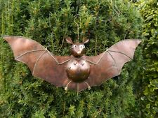 Bat Tea light Candle Holder Metal Hanging Bat Lantern Ornament - Bronze Bat