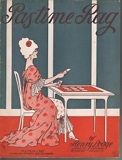 Pastime Rag 1913 Large Format Sheet Music