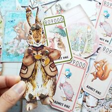 50 Vintage Peter Rabbit Paper Doll Birthday Party Baby Shower gift DIY Card