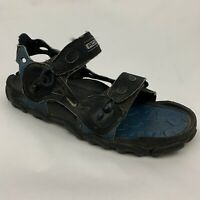 Nike Air ACG Mens 10 Hiking Trail Water Sport Sandals Double Strap Black Blue