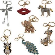 Keyring Handbag Charm Anime Pendant Rhinestone Crystal Purse Key Ring Keychain