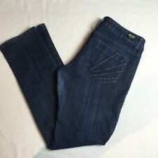 AKADEMIKS Jeans Womens Size 30 X 31 Slim Leg Purple Embroidery Stretch