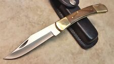 Proto USA Stanley Folding Blade Pocket Knife FS Hardwood Handle Lockback wsheath