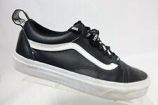 VANS Old Skool Black Sz 7 Men Leather Low-top Sneakers