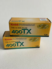 QTY:x2 - Kodak Tri-X 400 TX 120 - Black and White Camera Film - Expired 07/2008