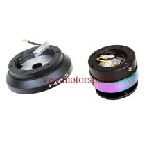 NRG SHORT HUB FOR 96-00 CIVIC W/GEN 2.0 BLACK/NEO CHROME