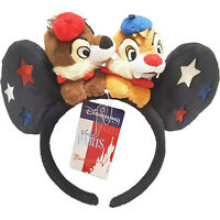 Disneyland Paris Exclusive Chip & Dale Minnie Mouse Ears Disney Headband French