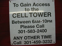 Cell Phone Tower Sign Garage Man Cave Decor