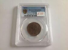 1890 Great Britain Half Penny PCGS MS 65 Red Brown