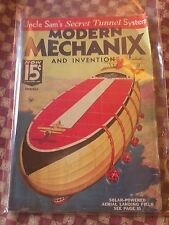 MODERN MECHANIX AND INVENTIONS - Oct 1934 UNCLE SAM'S SECRET TUNNELS used