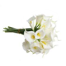 "13"" Artificial Calla Lily Bridal Wedding Bouquet Latex (White, 20pcs)- whit A1Q6"