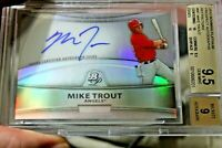⚾2011 Bowman Platinum refractors Mike Trout auto RC 9.5 not chrome Topps update