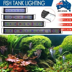 45-120cm Aquarium Light Lighting Full Spectrum Aqua Plant Fish Tank Bar LED Lamp