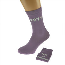 Aged to Perfection 1977 Printed Design Ladies Pink Socks 40th Birthday Gift 2017