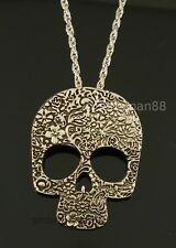 Skull Sugar Floral Day of the Dead Gothic Halloween Costume Jewellery Necklace