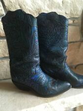Womens Zodiac Leather Cowboy Boot