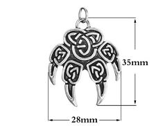 Veles Stamp Slavic wolf foot sign claw pendant no chain