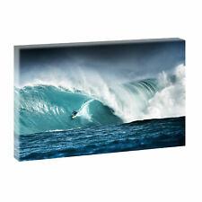 Surfing -Bilder auf Leinwand Wellen Meer Strand Poster Wandbild 100 cm*65 cm 548