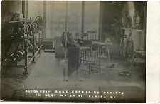 RPPC NY Elmira Occupational Interior Automatic Shoe Reparing Parlor W Water St