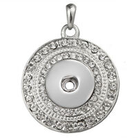 Hot Women Crystal Jewelry Necklace Pendant Fit 18mm Noosa Snap Button N224