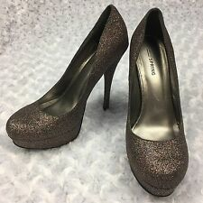 Call It Spring Multi Colored Glitter Banhi Pump Platform High Heel Womens Size 8