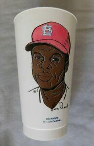 Lou Brock St. Louis Cardinals 1972 Baseball Slurpee Cup
