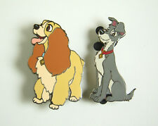 Disney Auctions Pin Disney Cats and Dogs Lady and Tramp Set of 2 LE 100 DA RARE