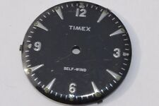 Rare ''TIMEX AUTOMATIC'''  Black Watch Dial 29.5mm wide Nice condition