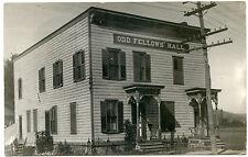RPPC NY Rotterdam 1910 Odd Fellows Hall Montgomery County