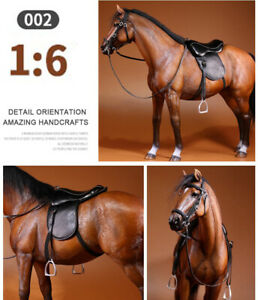 """12"""" Action Figure Brown Race Horses 1/6th Mr.Z Animal Germany Hanoverian Horse"""
