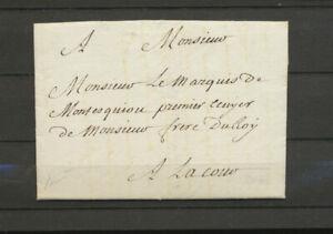 Franchise de la Cour de LOUIS XVI Lettre pr Marquis de Montesquiou Rare X5092