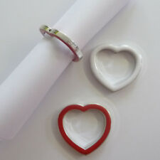 6 cuori argento rosso anelli porta tovaglioli da FISSAGGIO von CARTE Nome