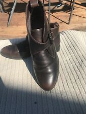 Ladies Topshop Brn Leather Chelsea Boots Size 6