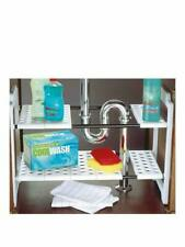 ADDIS 506881 Under Sink Storage Shelves Organizer - White