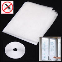 Hot White Large Window Screen Mesh Net Insect Fly Bug Mosquito Moth Door Netting